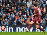 Watford's Italian forward Fernando Forestieri shoots to score a goal during the English FA Cup fourth round football match between Manchester City and Watford at the Etihad Stadium in Manchester on January 25, 2014