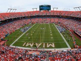 The Miami Dolphins play the Oakland Raiders at Sun Life Stadium on September 16, 2012