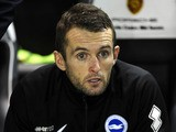 Brighton coach Nathan Jones during the Sky Bet Championship match between Brighton & Hove Albion and Watford at The Amex Stadium on October 28, 2013