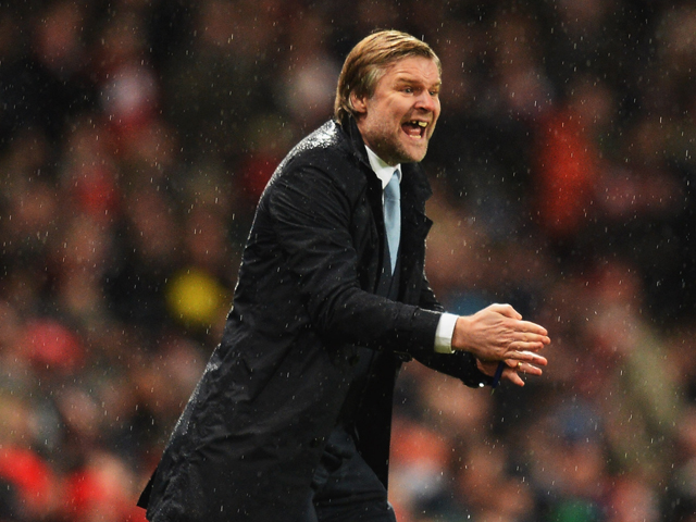 Steven Pressley manager of Coventry City gives instructions during the FA Cup with Budweiser Fourth round match between Arsenal and Coventry City at Emirates Stadium on January 24, 2014