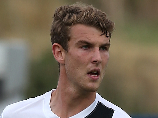 Sam Winnall of Scunthorpe United in action during the Sky Bet League Two match between Northampton Town and Scunthorpe United at Sixfields Stadium on September 7, 2013