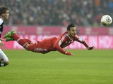 Bayern Munich's Spanish midfielder Thiago Alcantara head the ball during the German first division Bundesliga football match FC Bayern Munich vs Eintracht Frankfurt at the Allianz Arena in Munich, southern Germany on February 02, 2014