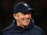 Crystal Palace manager Tony Pulis smiles prior to the Barclays Premier League match between Crystal Palace and Hull City at Selhurst Park on January 28, 2014
