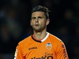 Helder Postiga of Valencia reacts as he fails to score during the La Liga match between Elche FC and Valencia CF at Manuel Martinez Valero on November 24, 2013