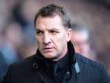Brendan Rodgers the Liverpool manager looks on prior to kickoff during the Barclays Premier League match between West Bromwich Albion and Liverpool at The Hawthorns on February 2, 2014
