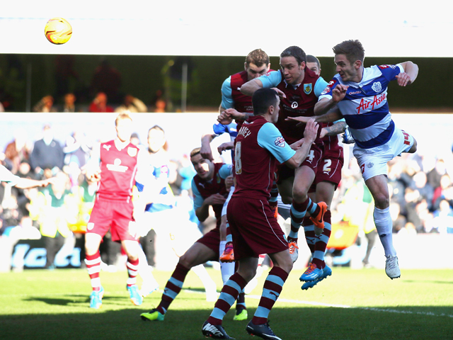 Kevin Doyle of Queens Park Rangers scores during the Sky Bet Championship match between Queens Park Rangers and Burnley at Loftus Road on February 1, 2014