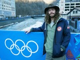 Danny Davis of the USA Snowboarding team poses in the Rosa Khutor Mountain Village ahead of the Sochi 2014 Winter Olympics on February 6, 2014