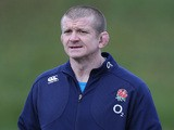 Graham Rowntree, the England forwards coach looks on during the England training session at Pennyhill Park on January 28, 2014