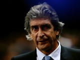 Manchester City manager Manuel Pellegrini prior to kick-off against Chelsea in their Premier League match on February 3, 2014