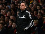 Fulham head coach Rene Meulensteen during the match against Manchester United on February 9, 2014