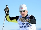 Todd Lodwick competes to a first place finish in the 10K to secure a place on the United States Olympic team for Sochi 2014 during the Nordic Combined Olympic Trial at Utah Olympic Park on December 28, 2013