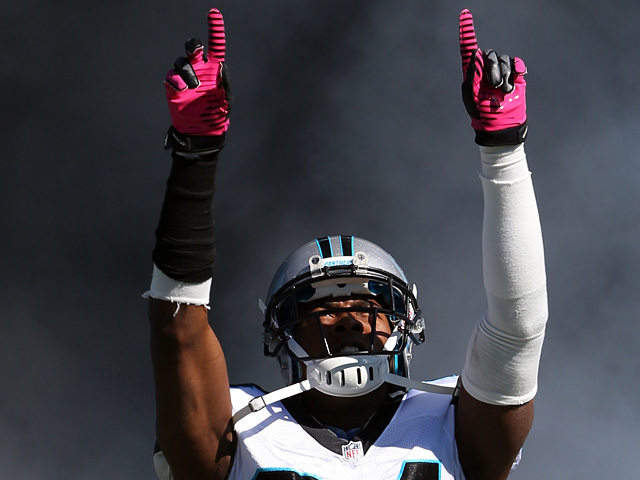 Josh Norman #24 of the Carolina Panthers during their game against Dallas Cowboys on October 21, 2012