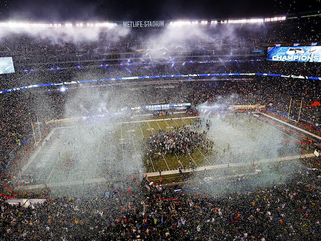 MetLife Stadium is shown after the Seattle Seahawks won Super Bowl XLVIII at MetLife Stadium on February 2, 2014