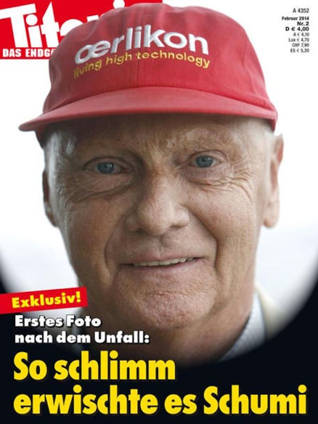 Titanic's controversial Michael Schumacher cover