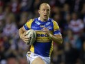 Carl Ablett of Leeds during the Super League Qualifying Semi Final match between Wigan Warriors and Leeds Rhinos at DW Stadium on September 27, 2013