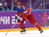 Alexander Ovechkin #8 of Russia skates against Slovenia during the Men's Ice Hockey Preliminary Round Group A game on day six of the Sochi 2014 Winter Olympics at Bolshoy Ice Dome on February 13, 2014