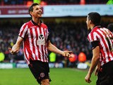 Sheffield United's Chris Porter celebrates after scoring his team's second goal against Nottingham Forest during their FA Cup fifth round match on February 9, 2014