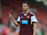 Jason Holt of Hearts during a pre season friendly match between Dunfermline Athletic and Hearts at East End Park on July 13, 2013