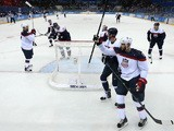 Phil Kessel of USA scores a goal against Slovakia in the second period during the Men's Ice Hockey Preliminary Round Group A game on February 13, 2014