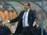 Head Coach Roger De Sa of the Orlando Pirates gestures during the Absa Premiership match between Orlando Pirates and Kaizer Chiefs at FNB Stadium on October 26, 2013
