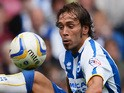 Inigo Calderon controls the ball during the Sky Bet Championship match between Brighton & Hove Albion and Derby County at Amex Stadium on August 10, 2013