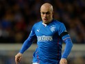 Nicky Law of Rangers in action during the The William Hill Scottish Cup Third Round match at Ibrox Stadium on November 1, 2013