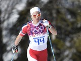Norway's Astrid Uhrenholdt Jacobsen competes in the Women's Cross-Country Skiing 10km Classic at the Laura Cross-Country and Biathlon Center during the Sochi Winter Olympics February 13, 2014