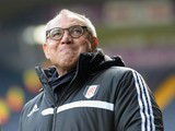 Felix Magath, the new manager of Fulham before the Barclays Premier League match between West Bromwich Albion and Fulham at The Hawthorns on February 22, 2014