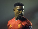 Jordan Ibe of Liverpool U21 looks on during the Barclays U21s Premier League match between Liverpool U21 and Sunderland U21 at Anfield on September 17, 2013
