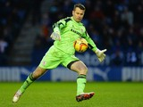Shay Given of Middlesborough during the Sky Bet Championship match between Leicester City and Middlesbrough at The King Power Stadium on January 25, 2014