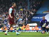 Burnley's Danny Ings celebrates after scoring his team's second goal against Blackburn during their Championship match on March 9, 2014