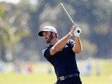 Dustin Johnson at the third hole during the third round of the World Golf Championships-Cadillac Championship on March 8, 2014