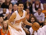 Gerald Green #14 of the Phoenix Suns handles the ball during the NBA game against the Miami Heat at US Airways Center on February 11, 2014