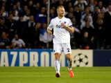 Lars Jacobsen of FC Copenhagen in action during the UEFA Champions League group stage match between FC Copenhagen and Juventus held on September 17, 2013