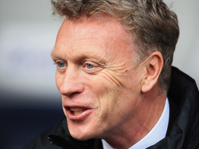 David Moyes manager of Manchester United looks on prior to the Barclays Premier League match between West Bromwich Albion and Manchester United at The Hawthorns on March 8, 2014