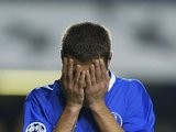Adrian Mutu, then of Chelsea, reacts to missing a chance on November 26, 2003.