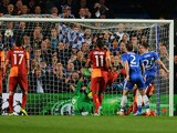 Gary Cahill of Chelsea (24) scores their second goal during the UEFA Champions League Round of 16 second leg match against Galatasaray on March 18, 2014