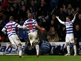 Jamie Mackie of QPR celebrates scoring the winning goal during the Barclays Premier League match between Queens Park Rangers and Liverpool at Loftus Road on March 21, 2012