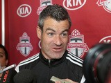 Toronto FC head coach Ryan Nelsen talks to reporters during media day at the Kia training grounds on February 11, 2014