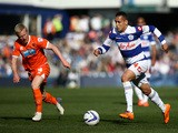 Ravel Morrison of QPR attacks during the Sky Bet Championship match between Queens Park Rangers and Blackpool at Loftus Road on March 29, 2014