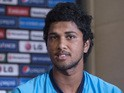Sri Lanka batsman Dinesh Chandimal attends the launch Media Conference held at the Conrad Hotel Dubai on December 14, 2013
