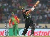 Aaron Finch of Australia bats during the ICC World Twenty20 Bangladesh 2014 match between Bangladesh and Australia