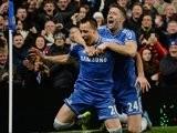 Gary Cahill and John Terry celebrate the latter's goal for Chelsea on December 01, 2013.