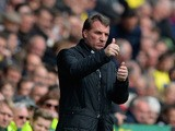Liverpool manager Brendan Rodgers gives the thumbs up during the Premier League match against Norwich on April 20, 2014