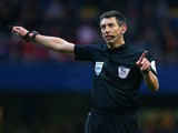 Referee Lee Probert during the Barclays Premier League match between Chelsea and Stoke City at Stamford Bridge on April 5, 2014