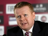 Aston Villa Chief Executive Paul Faulkner attends a press conference to announce the appointment of Paul Lambert as manager, at Villa Park on June 6, 2012