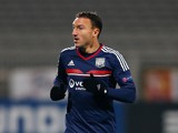 Steed Malbranque of Olympique Lyonnais in action during the UEFA Europa League Group I match between Olympique Lyonnais and Real Betis Balompie at Stade de Gerland on November 28, 2013
