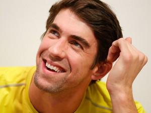 Olympic swimmer Michael Phelps attends a Subway press conference to promote healthy living and lifestyle among childrenon December 04, 2013