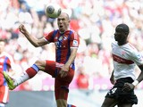 Bayern Munich's Dutch midfielder Arjen Robben and Stuttgart's defender Antonio Rudiger vie for the ball during the German first division Bundesliga football match FC Bayern Munich vs VFB Stuttgart in Munich, southern Germany, on May 10, 2014