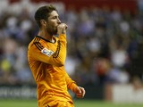 Real Madrid's defender Sergio Ramos celebrates after scoring during the Spanish league football match Real Valladolid FC vs Real Madrid CF at Jose Zorilla stadium in Valladolid on May 7, 2014